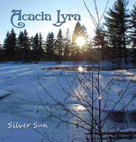 Cover for Acacia Lyra's 2011 Silver Sun harp music CD